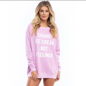 Wildfox Chase Ice Cream Not Feelings Sweater NWT
